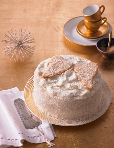 A heavenly coconut cream cake for Christmas