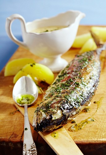East Friesian mackerel with a white wine sauce (Germany)
