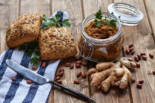 Vegan bean paste with ginger