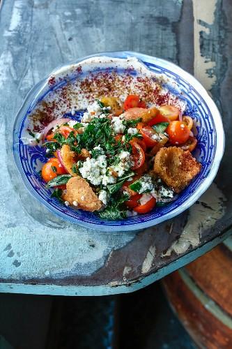 Fatusch-Salat auf dem Machane-Jehuda-Markt, Jerusalem