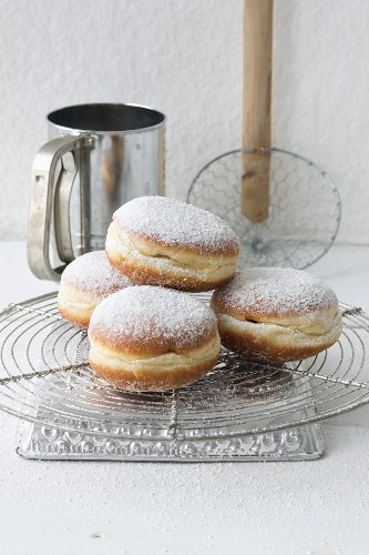 Garnished donuts