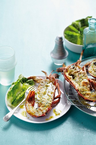 Braaied crayfish with roasted garlic and parsley butter