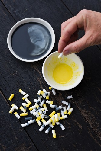 Creating decorations from cigarette filters