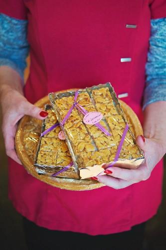 Almond cake (Amandine), Lake Geneva, Switzerland