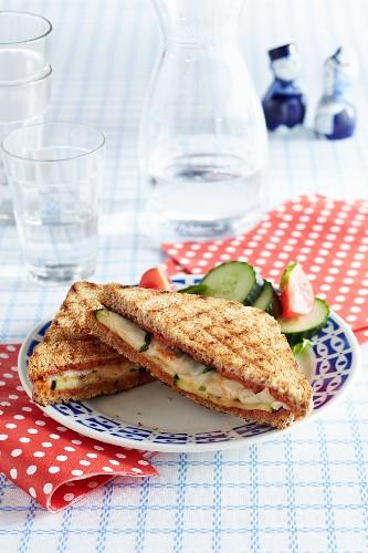 A toasted Casablanca sandwich