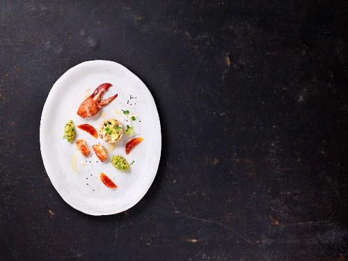 Lobster tartare with avocado, coriander and blood orange