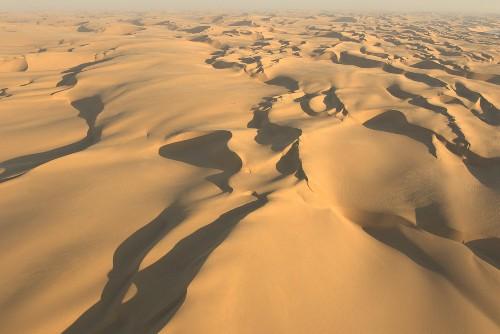 Luftaufnahme der Wüste Namib, Namibia, Afrika