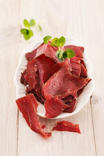 Sliced smoked beef (South Tyrol)