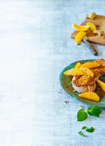 Fried ginger and orange escalopes (Paleo)