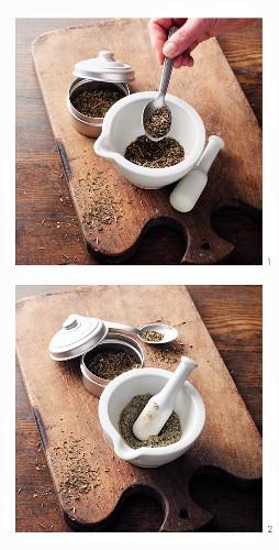 Reiherschnabel-Pulver nach Hildegard von Bingen zubereiten