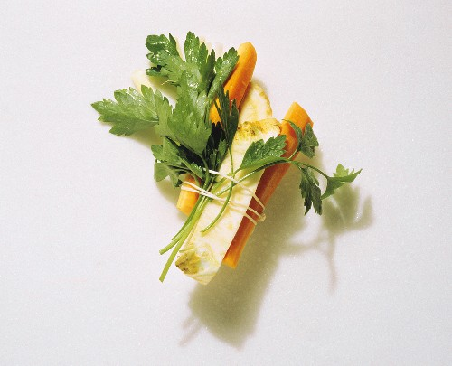 Small Bundle of Assorted Vegetables with Parsley