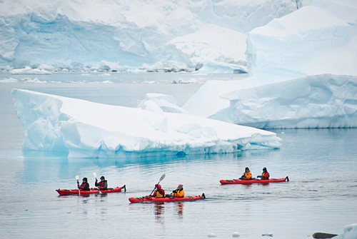 Sea kayaking,Antarctica
