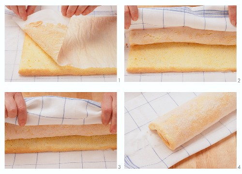 Rolling up a sponge