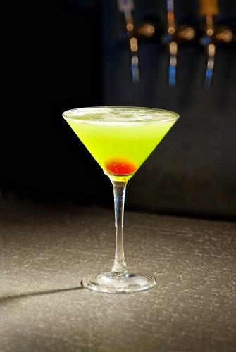 A Green Apple Martini