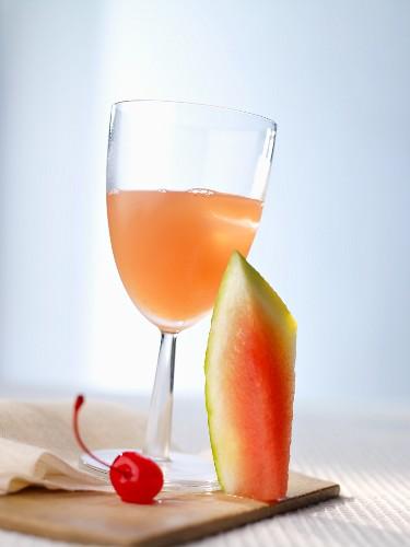 Cocktail After Breakfast mit Wassermelone