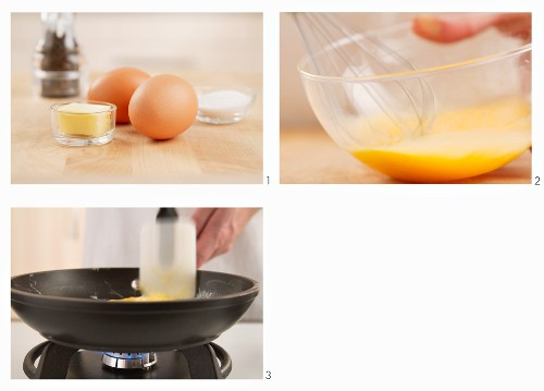 Omelett zubereiten