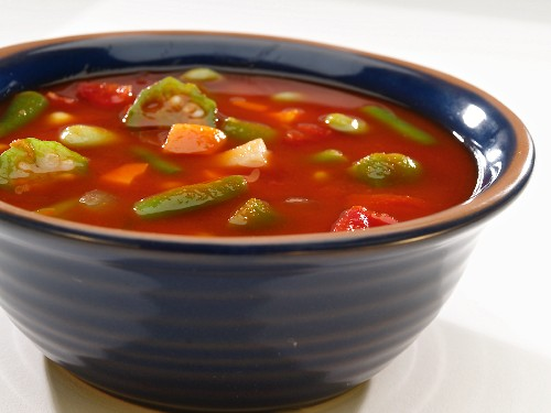 Bowl of Tomato Okra Soup
