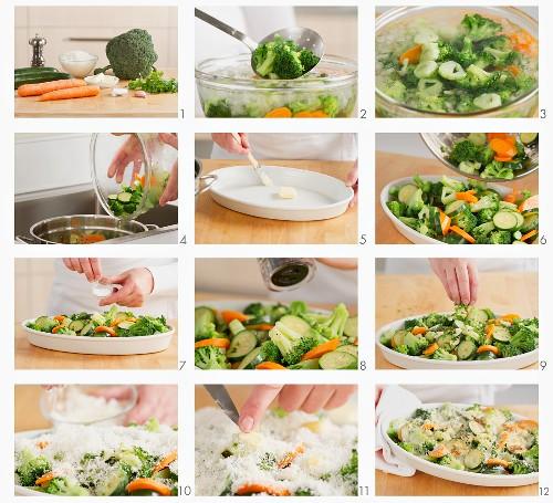 Gemüsegratin zubereiten
