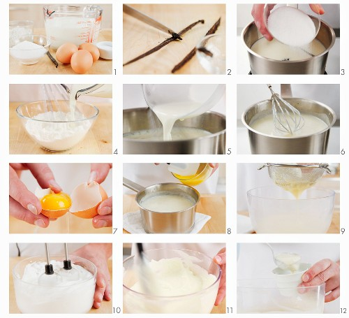 Making vanilla blancmange