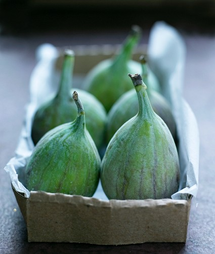 Fresh figs in a paper box
