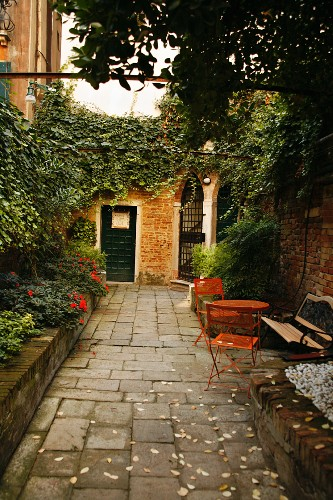Hotel Entrance in Venice Italy