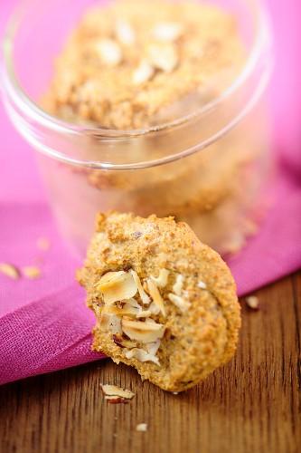 Mini chickpea flour biscuits