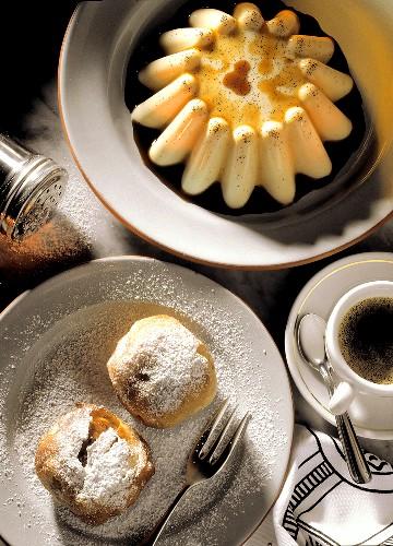 Latteruolo e Bignè (Milchkuchen & Aprikosenkrapfen, Italien)
