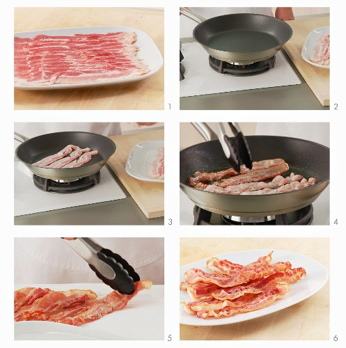 Bacon being fried