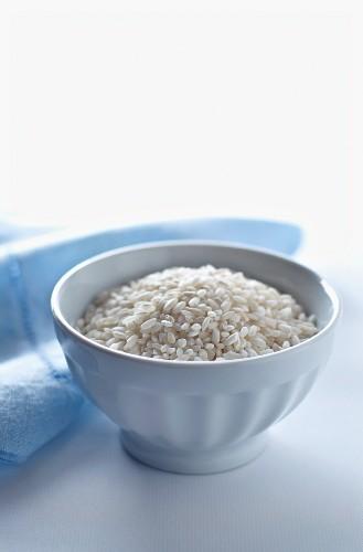 A Bowl of Raw Arborio Rice