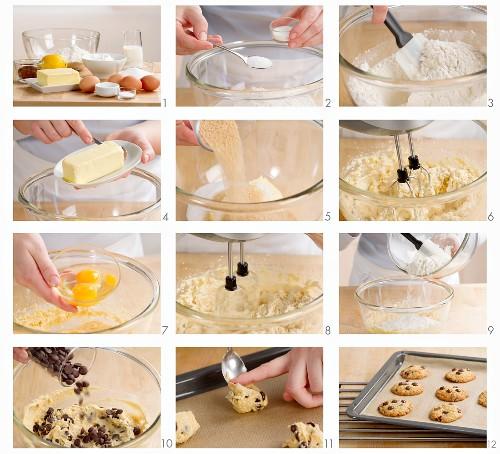 Chocolate Chip Cookies zubereiten