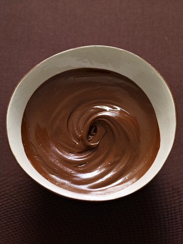 A Bowl of Melted Chocolate; From Above