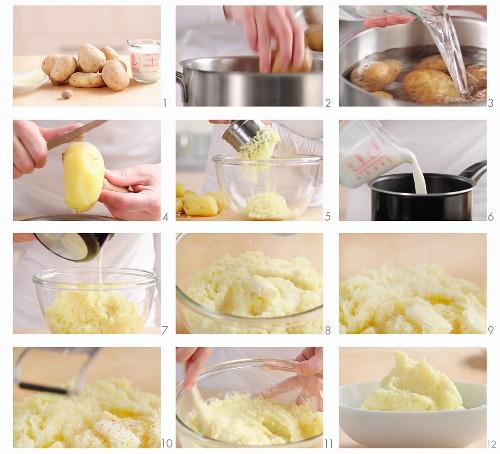 Making mashed potato (German voice-over)