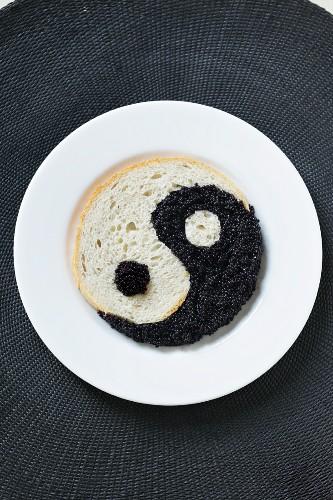 Bread and caviar (yin yang)