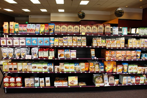 Gluten Free Products Display in a Market