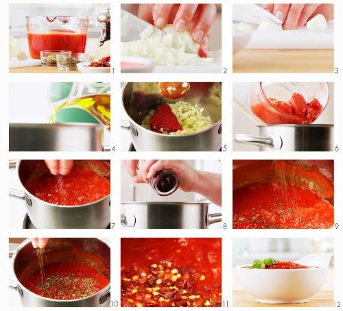 Making tomato sauce (English Voice-Over)