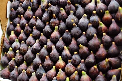 Figs in a Crate in the La Boqueria Market in Barcelona, Spain