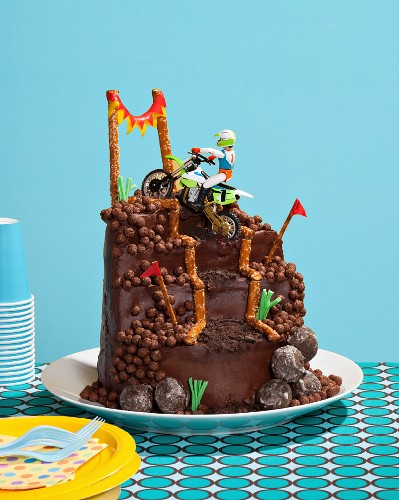 Surprising Dirt Bike Cake License Images 11112458 Stockfood Funny Birthday Cards Online Overcheapnameinfo