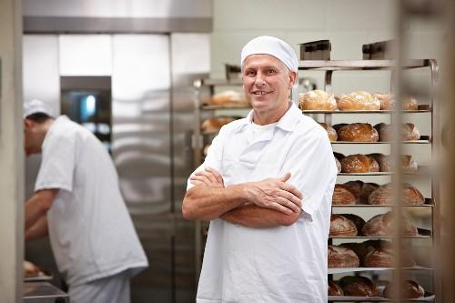 A baker in a bakery
