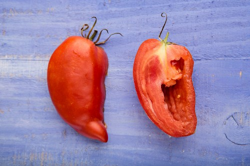 Halved Adenhorn tomatoes