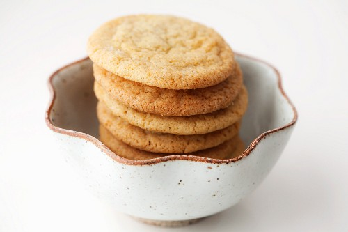 Snickerdoodles Stacked in a Bowl