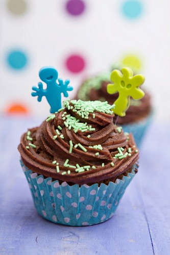 Chocolate cupcakes for a child's party