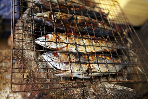 Fish, smoked and grilled