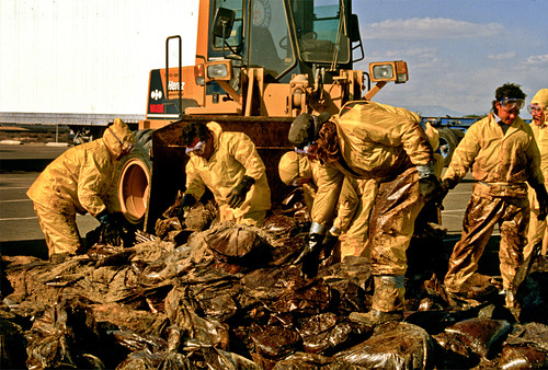 Oil spill clean-up