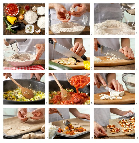 How to make mini pizzas with peppers