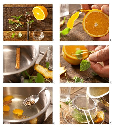 How to prepare lemonbalm and cinnamon tea