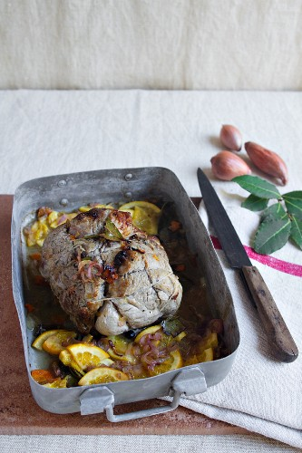 Roast veal with orange