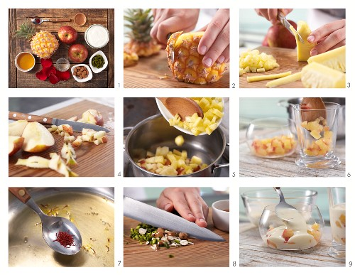 Arabian pineapple compote being made