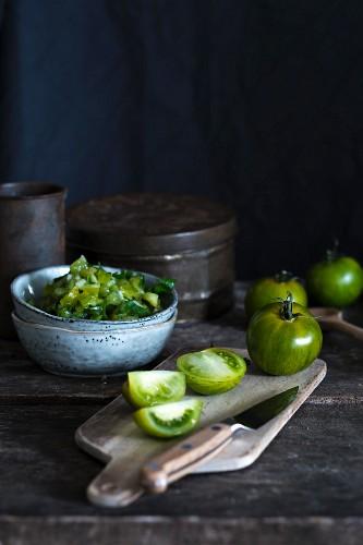 Grüne Tomatensalsa
