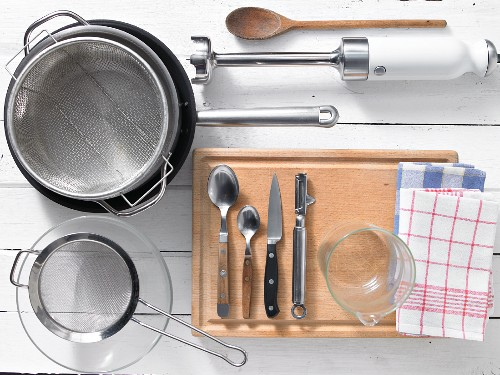 Kitchen utensils required for preparing the recipe