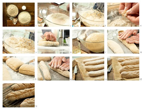 How to bake a baguette with wholemeal flour